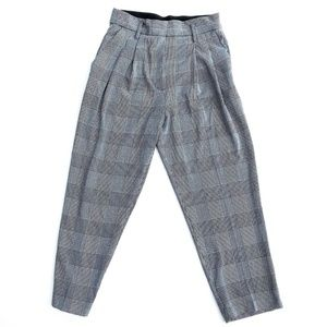 H&M NWT Houndstooth Plaid Tapered Leg Trousers